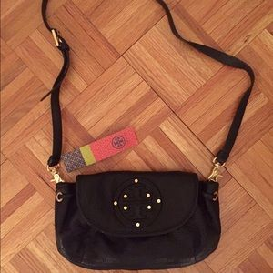 *TORY BURCH* brand new black leather purse!!!