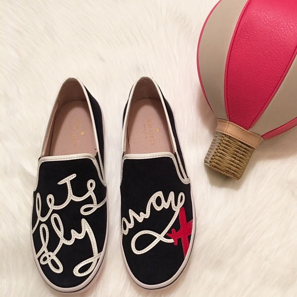 kate spade shoes new lets fly away stefy slip ons poshmark