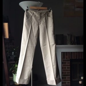 Old navy white and tan striped wide leg pants