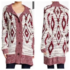 Melrose and Market Novelty Cardigan Coat, Size S