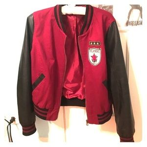 Jackets & Blazers - Red and Black Bomber Jacket