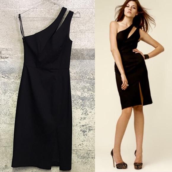 76% off Black Halo Dresses & Skirts - BNWT black halo one shoulder ...