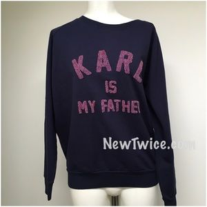 Eleven Paris Sweaters - Eleven Paris Karl is my father sweater S
