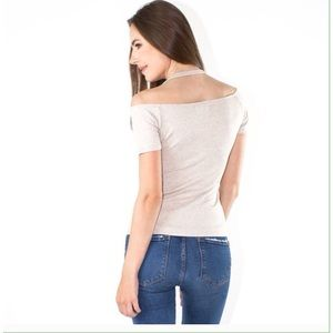 """The """"Ann"""" Cold Shoulder Top"""