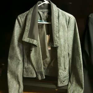 Jackets & Blazers - Faux Grey leather jacket