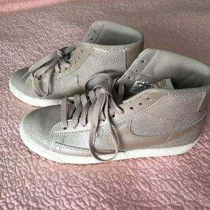 Nike Shoes - J.Crew Nike Blazer Mid Leather Suede High Tops