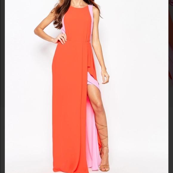 BCBGMaxAzria Dresses | Orange Light Pink Bcbg Max Azria Dress | Poshmark
