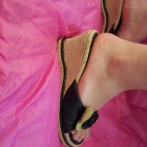 Espadrille Leather Wedge Sandal