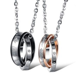 CLEARANCE His & Hers Forever Lovers Ring Necklaces