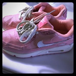 77 nike shoes nike air max 90 glitter pink size 8