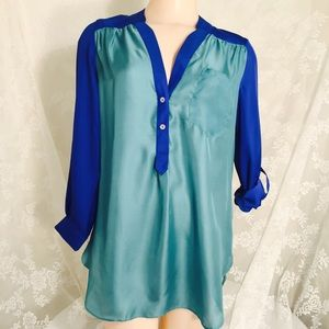 Blue and green blouse. FINAL CLEARANCE