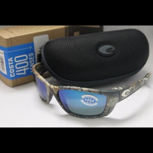 f3a7db2604d1a New Costa Del Mar Fisch 400G Sunglasses Camo Blue