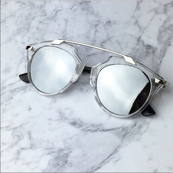 690f0729eb9 Silver mirrored sunglasses bar aviators. Listing Price   25. Your Offer