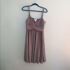 LOFT pewter knit sun dress.