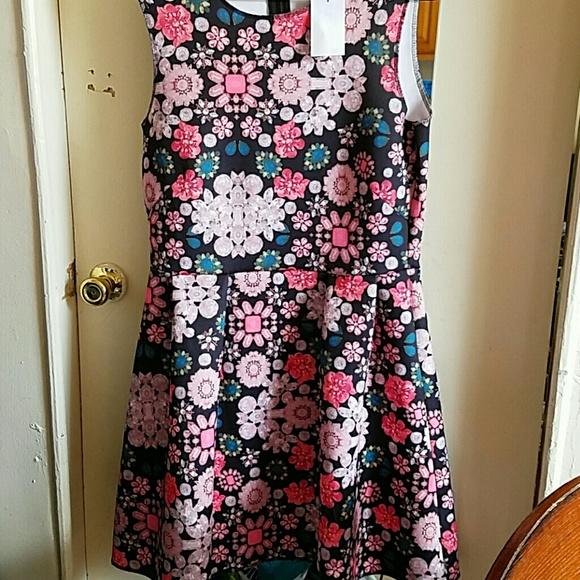 fe4f4fb5695e H&M Dresses | Hm Neoprene Jewel Printed Dress Size L | Poshmark