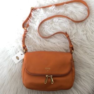 Fossil orange crossbody bag