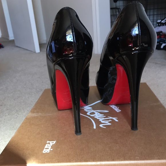 972b3d5332f9 Christian Louboutin Shoes - Christian Louboutin Bianca 120 black patent