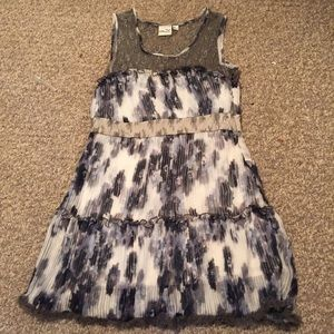 Black and gray floral dress