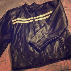 Point Zero Other - Mens Pleather Motocross Jacket
