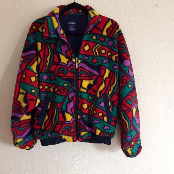 b0b5967d1 Retro Vintage 90s multi-color jacket! Size large!