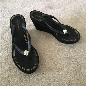0c9a9a3ca652 Juicy Couture Shoes - Juicy Couture Britt wedge flip flops