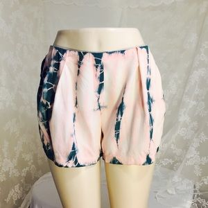 Pants - Peach and green shorts  FINAL CLEARANCE
