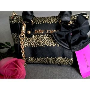 NWT Betsey Johnson Oh Bow Mini Crossbody