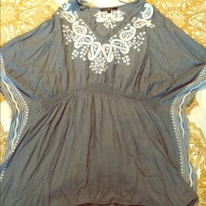 Tops - Tunic Top with Embroidery