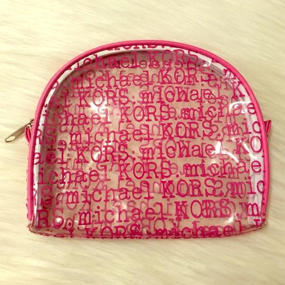 19fbd4c690e6 Michael Kors Clear/Pink Cosmetic Bag. M_56f5959df739bcaba900a49d