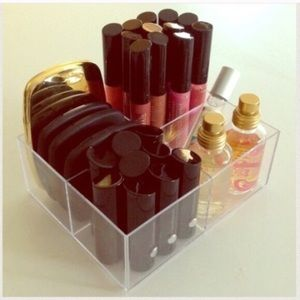 Clear acrylic makeup cosmetic storage organizer