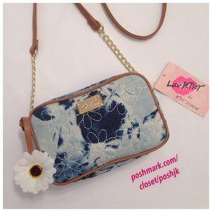 Betsey Johnson Handbags - NWT Betsey Johnson CrossBody Denim