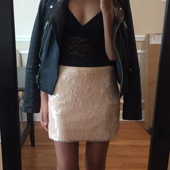 Blush Pastel Pink Sequined Skirt Forever 21