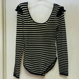 Betsey Johnson Collection Ribbed Sweater