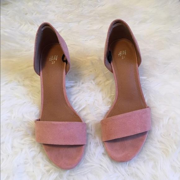 f3dfd528524 H M Shoes - H M Soft Pink Sandals Kitten Heel Heels Shoes