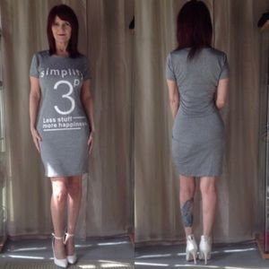 "Dresses & Skirts - NEW CASUAL ""SIMPLIFY"" YOUR LIFE DRESS IN GRAY"