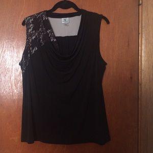 Worthington Tops - Worthington Black Lace Sleeveless Top