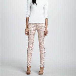 Skinny Foil Print Jeans