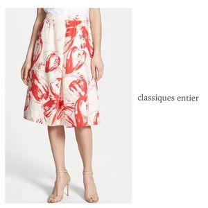 classiques entier Dresses & Skirts - CLASSIQUES ENTIER SILK PRINT A-LINE SKIRT ~ NWT