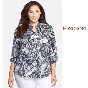 Foxcroft Tops - FOXCROFT PALM PRINT TOP ~ NWT
