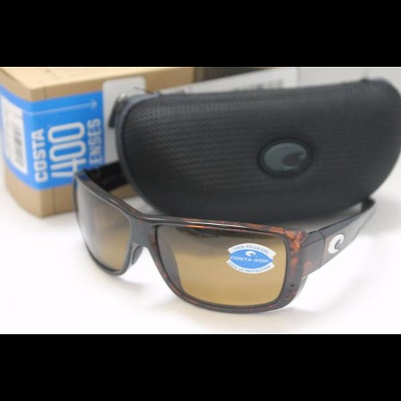 7fc0eff98d5 New Costa Del Mar Double Haul 400P Sunglasses Tort
