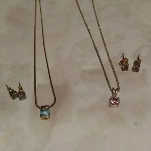 Two necklaces & earring sets