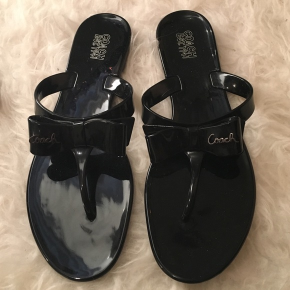 fea651ee00c895 Coach Shoes - 🍉Coach Jelly Bow Sandals 11
