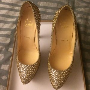 Authentic Christian louboutin crystal shoes
