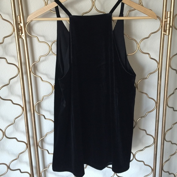 Black velour tank dress
