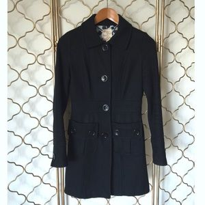 TULLE Black Wool Coat