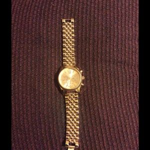 Rose goldtone watch