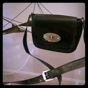 Mulberry patent leather crossbody