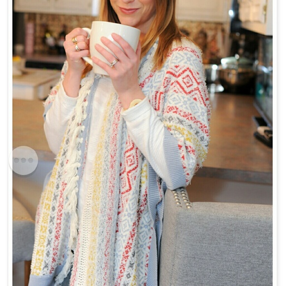 53% off CAbi Sweaters - New in box Cabi siesta poncho from Jamie's ...