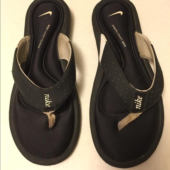 meet 893d5 acff9 NIKE comfort footbed sandals flip flops women's 11
