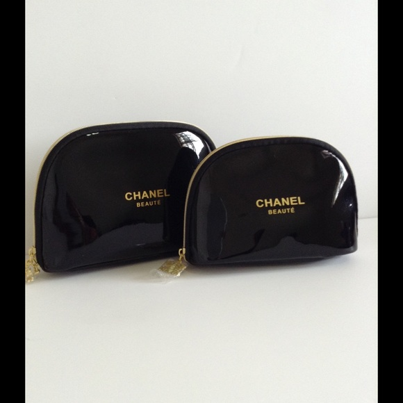 28546baa31cd CHANEL Bags | Beaute Black Makeup Bag Set Of 2 | Poshmark